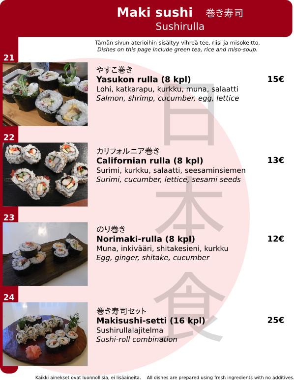 Sushi rolls (maki)