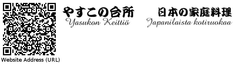 QR Code of website url and logos